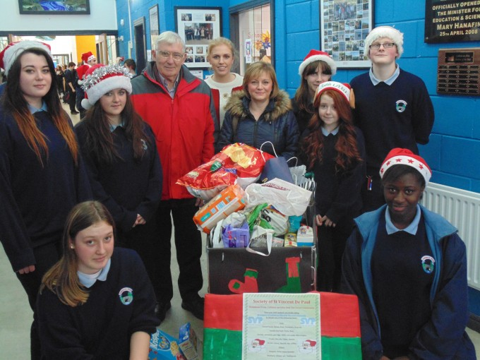 Last year's JCSP students donating to the St. Vincent de Paul Food Appeal